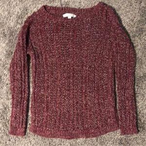 NWOT Loft maroon sweater. size Sm